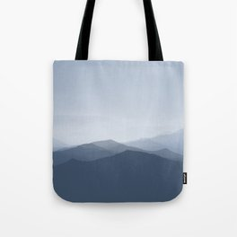 hazy morning blues Tote Bag