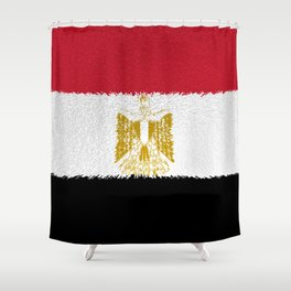 Flag of Egypt - Extruded Shower Curtain
