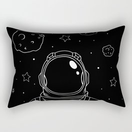 Astronaut and Asteroids Rectangular Pillow