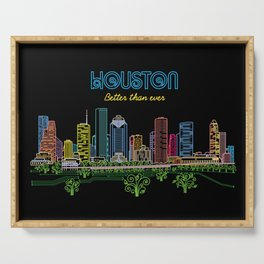 Houston Better Than Ever Circuit Serving Tray