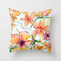 Beautiful tropical things Throw Pillow
