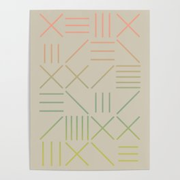 Geometric Shapes 11 Gradient Poster