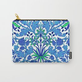 William Morris Hyacinth Print, Cobalt and Navy Blue Carry-All Pouch