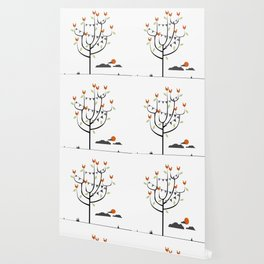 Birds in a tree Wallpaper