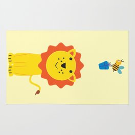 Lion and bee Rug