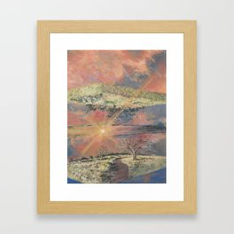 Sunset at Olympic Park Framed Art Print