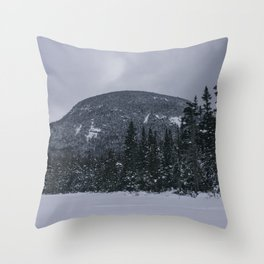 Winter at Lonesome Lake in the White Mountains Throw Pillow