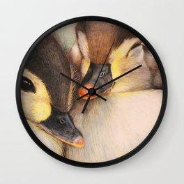 TWO MALLARD DUCKLINGS 1 Wall Clock