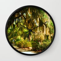 georgia Wall Clocks featuring Georgia by Raymond Earley