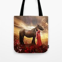 friendship Tote Bags featuring Friendship by EnchantedWhispers