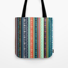 Bohemian Tribal Stripe Tote Bag