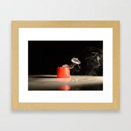 Smokin Candle Framed Art Print