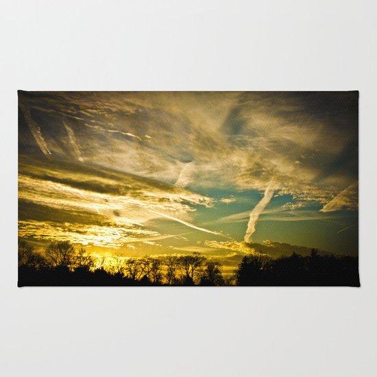 Sundown Sky Planes  Rug