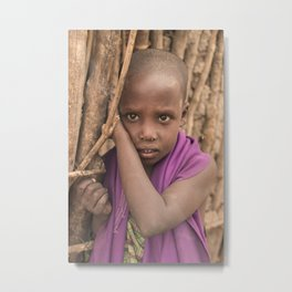 Young Maasai Girl II Metal Print