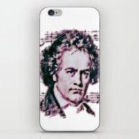 beethoven iPhone & iPod Skins featuring Beethoven by Zandonai