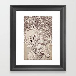 Self Destructive Personality Framed Art Print