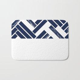 Modern Chevron - Blue Bath Mat