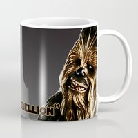 chewbacca Mugs featuring Chewbacca by KL Design Solutions