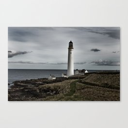 Scurdieness Lighthouse, Montrose, Scotland Canvas Print