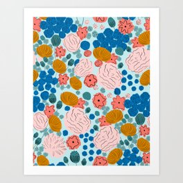 Mia florals Art Print