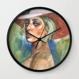 pop Synths Wall Clock