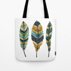 Midnight Feather Trio Tote Bag