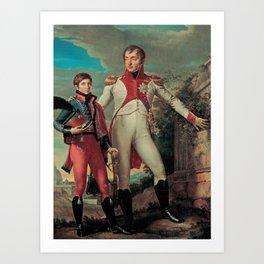 Jean-Baptiste Wicar - Luigi Bonaparte with his son Napoleone Luigi Art Print