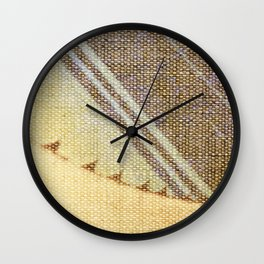 Agave Cactus on burlap cloth Wall Clock