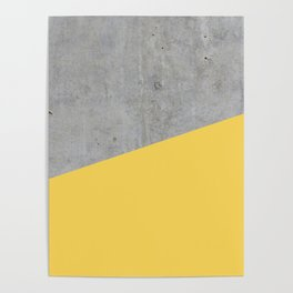 Concrete and Primrose Yellow Color Poster