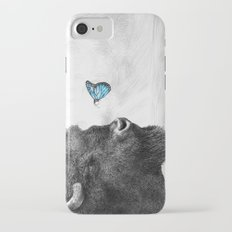 Bison and Butterfly (square format) iPhone 7 Slim Case