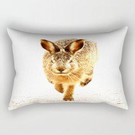 Wait For Me Guys! Hare running #decor #society6 Rectangular Pillow