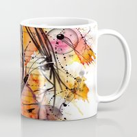anime Mugs featuring Anime 2 by Del Vecchio Art by Aureo Del Vecchio