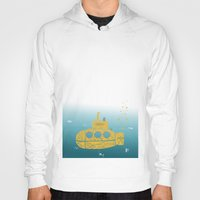 yellow submarine Hoodies featuring YELLOW SUBMARINE by ARCHIGRAF