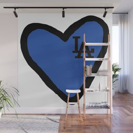 Love LA - Blue Wall Mural