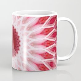 Detailed mandala in red and white colors Coffee Mug