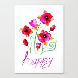 Happy pink Canvas Print