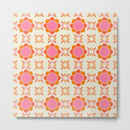 Sixties Tile Metal Print