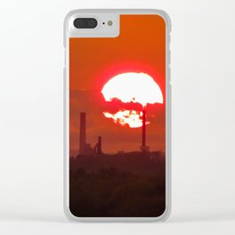 Fiery May Sunset Clear iPhone Case