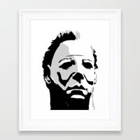 michael myers Framed Art Prints featuring MICHAEL MYERS by Genedela