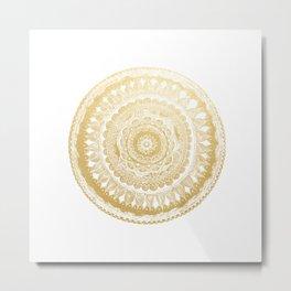 Golden Mandala Metal Print