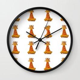 Orange Giraffe Wall Clock
