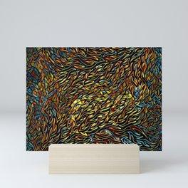 Infinite Wildfire Flames Mini Art Print