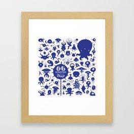 66 monsters from the deep Framed Art Print