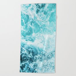 Perfect Sea Waves Beach Towel