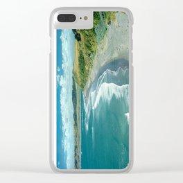 Raglan beach, New Zealand Clear iPhone Case