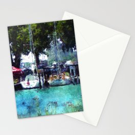 Sailboats At Detroit Yacht Club Stationery Cards