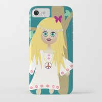 hippie iPhone & iPod Cases featuring Hippie by lescapricesdefilles