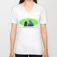 clueless V-neck T-shirts featuring Excuse me, Miss Dionne by abiey_uwa