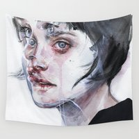 agnes Wall Tapestries featuring coming true by agnes-cecile