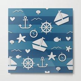 Nautical Nonsensical Metal Print